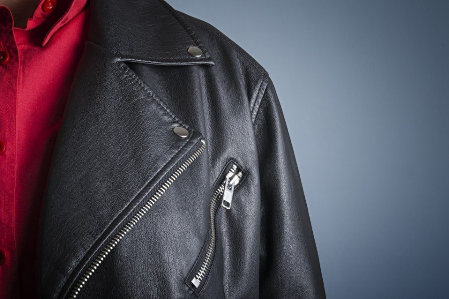A Professionally Cleaned Black Leather Jacket