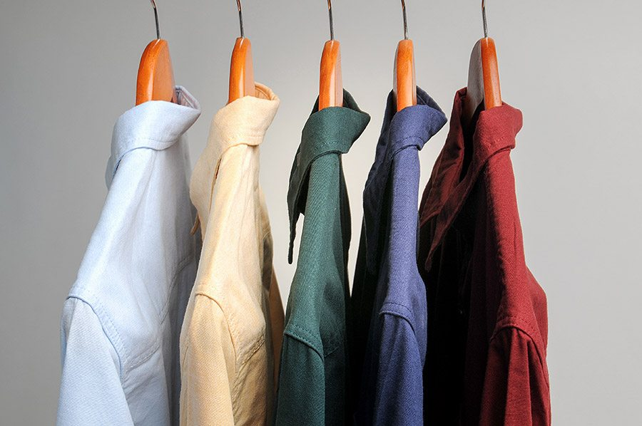 Professionally Cleaned Dress Shirts